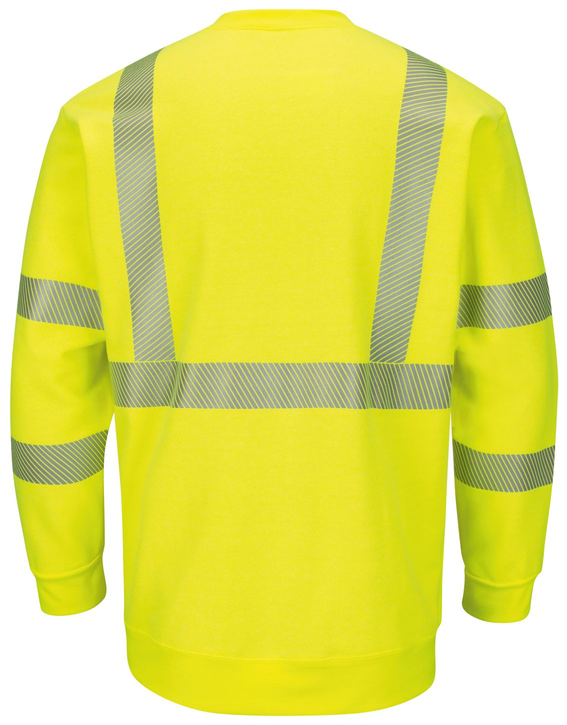 bulwark-fr-hi-visibility-sweatshirt-smc4-fleece-crewneck-yellow-green-back.jpg