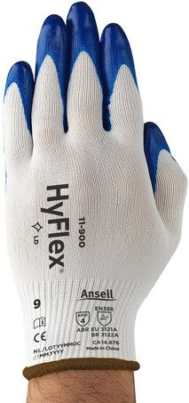 Ansell HyFlex Nylon Gloves 11-900 - Nitrile Palm Coated Front