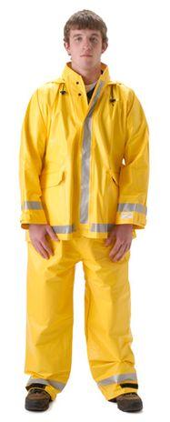 nasco arclite arc flash rated yellow rain suit