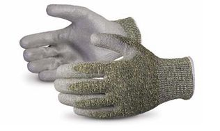Superior Emerald CX S13CXPU Polyurethane Coated Kevlar and Stainless Steel Gloves