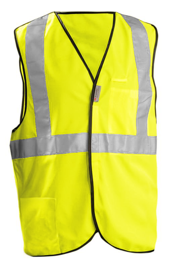 Occunomix OccuLux Break-Away and High Visibility Vest LUX-SSBRP Front Yellow