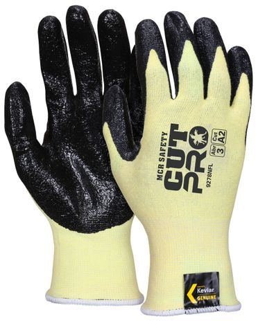 MCR Safety UltraTech Gloves 9693 Aramid Cut Protection with Textured Nitrile Palms