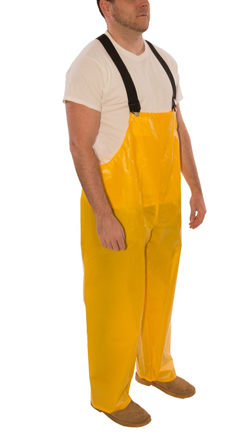 Tingley Iron Eagle® 022007 Chemical Resistant Overalls - Polyurethane Coated Yellow Side