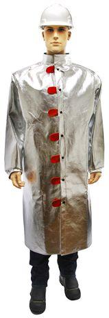 Otterlayer aluminized coat 50 inch front full height C31-ACF