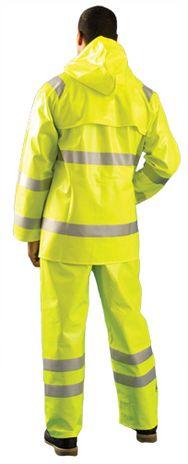 Occunomix Arc Flash Waterproof Rain Jacket LUX-TJR/FR Back