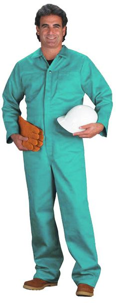Chicago Protective 9 oz Green Proban Fire Resistant Coverall