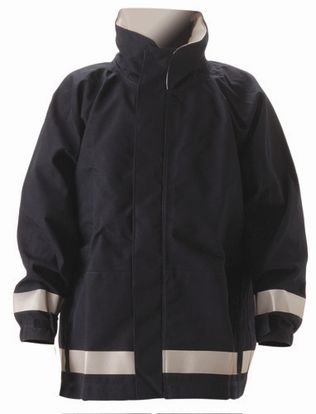 nasco mp3 arc flash fire chemical resistant breathable rain jacket navy