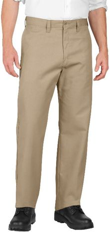 Dickies Men's Pants - Industrial Flat Front Pant LP812 - Khaki