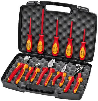 Knipex Tools High Leverage Insulated Pliers and Screwdriver Tool Set 9K 98 98 31 US
