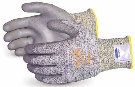 Superior Touch Dyneema Cut Resistant Gloves w/ Polyurethane Coated Palms, Grey S13SXPUQ