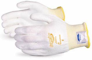 Superior Touch Cut Resistant Palm Coated Dyneema Gloves, White S13SXPUQ