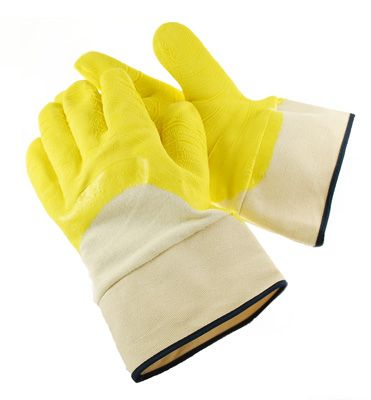 Premium Latex Dipped Cotton Glass Handler Work Glove