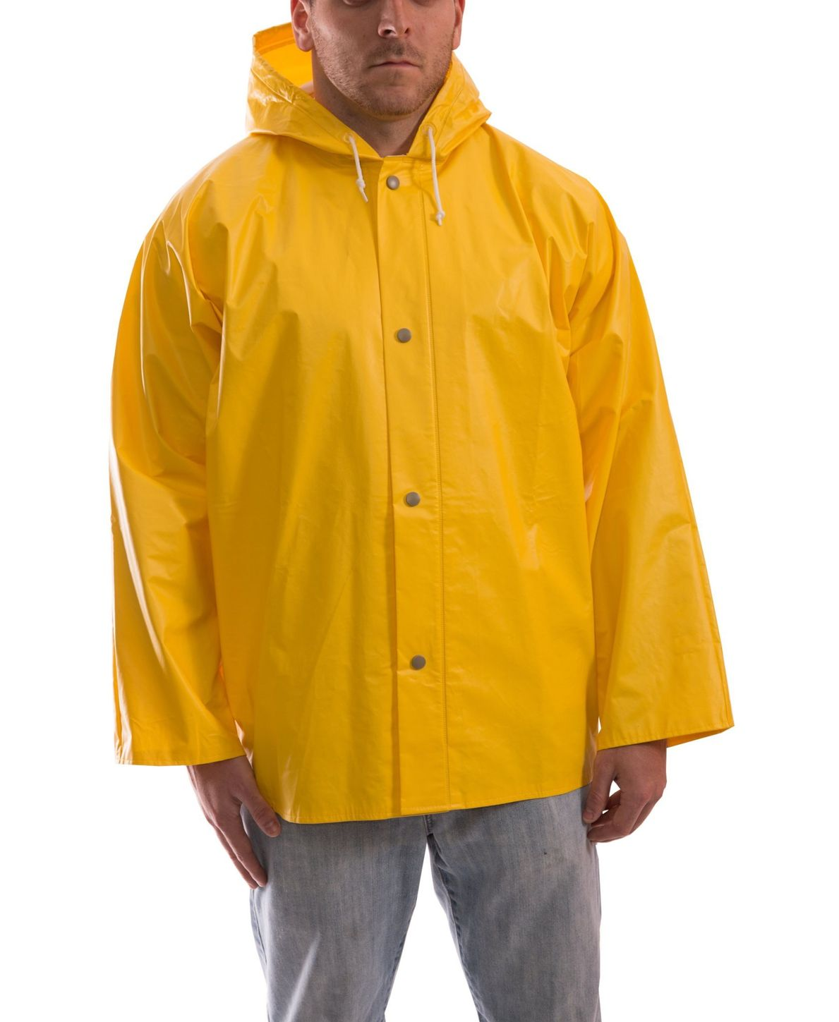 Tingley J32107 PVC Coated Work Jacket - with Attached Hood Front