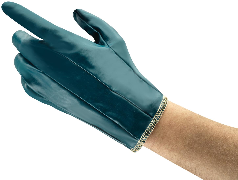 Ansell Hynit Work Gloves 32-125 Nitrile Impregnated - Vented Back Back