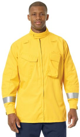 Workrite FR Jacket FW81, Relaxed Fit Wildland Yellow Example Front