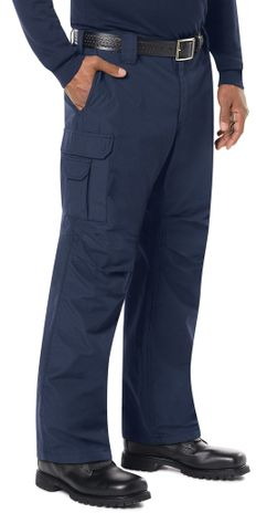 Bulwark FR Workrite Tactical Ripstop Pants FP40 Navy Example Right
