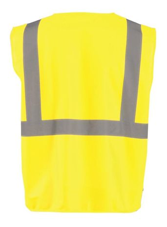 Occunomix Class 2 Solid Standard Vest With Zipper Back Yellow