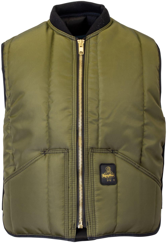RefrigiWear 0399 Iron-Tuff Insulated Work Vest Sage Front