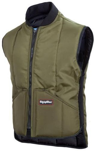 RefrigiWear Cold Weather Apparel - Iron-Tuff™ Vest 0399 - Sage