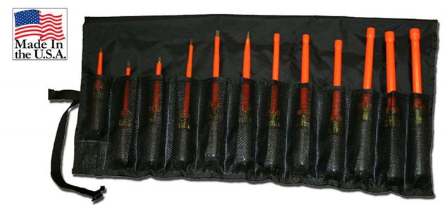 Cementex TR-12NDSD Insulated Nut Driver / Screwdriver Kit, 12PC
