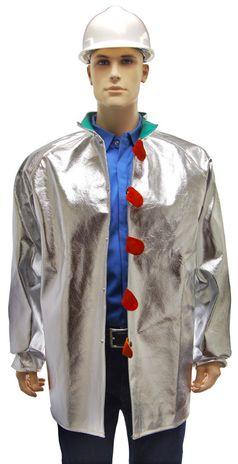 Otterlayer aluminized jacket front opened detail C11-ACF