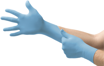 Ansell TNT Blue Nitrile Disposable Gloves 92-675 - Powder-Free