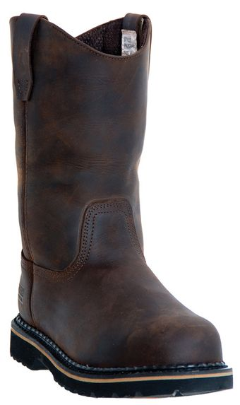 """McRae 11"""" Steel Toe Leather Boots MR85344"""