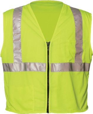 OK-1 Economy Safety Vests S1L - Class 2 Mesh Polyester Yellow