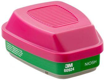 3M 60924 Ammonia & Methylamine Cartridges with P100 Filter