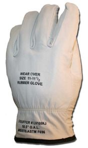 "Cementex 10"" Class 0 High Voltage Leather Protector Gloves"
