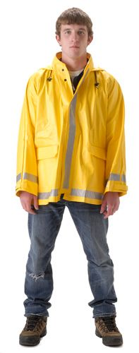 nasco arclite arc flash yellow rain jacket