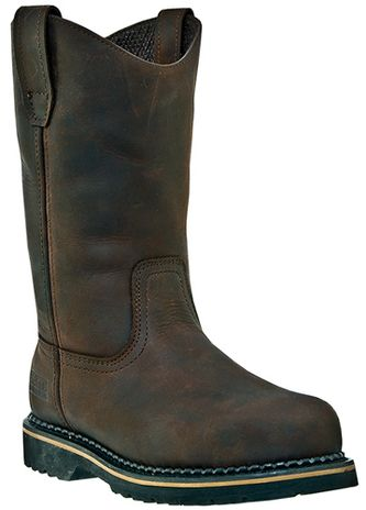 """McRae 11"""" Soft Toe Leather Work Boots MR85144"""