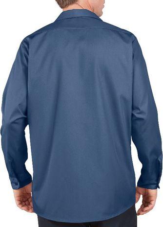 Dickies Men's Shirts - Long Sleeve Industrial Work Shirt LL535 - Navy