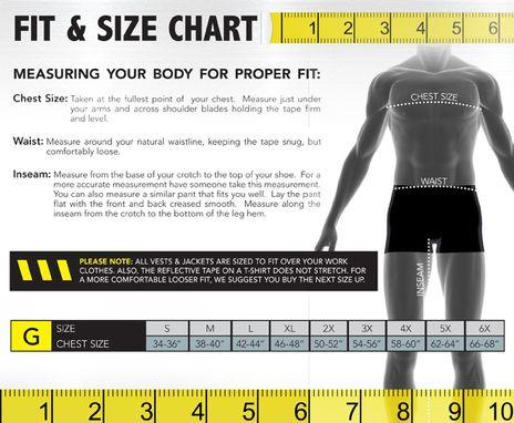 Occunomix size chart G