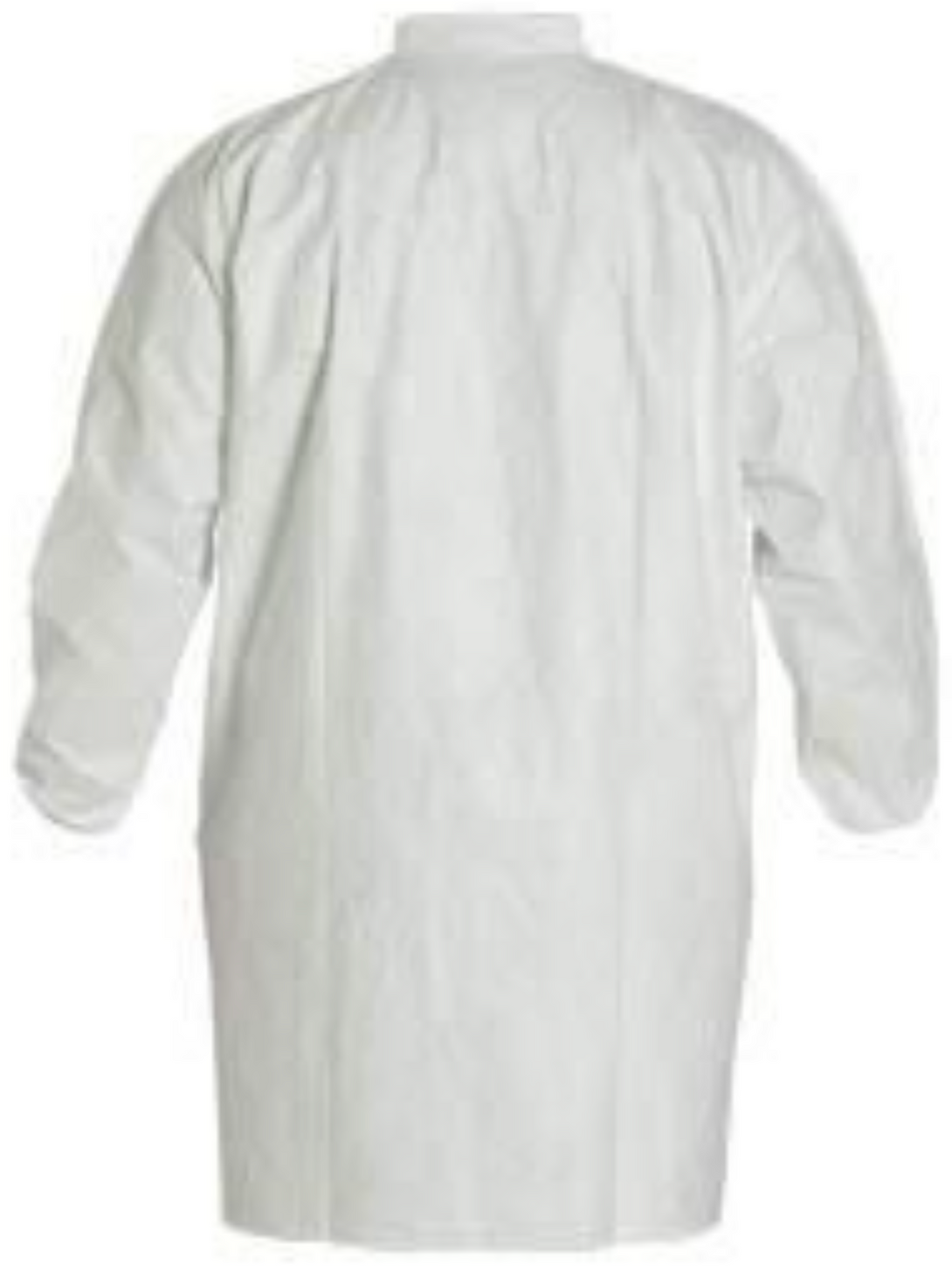 DuPont Tyvek Frock with Elastic Wrists & Front Snap Closure - TY211SWH Back