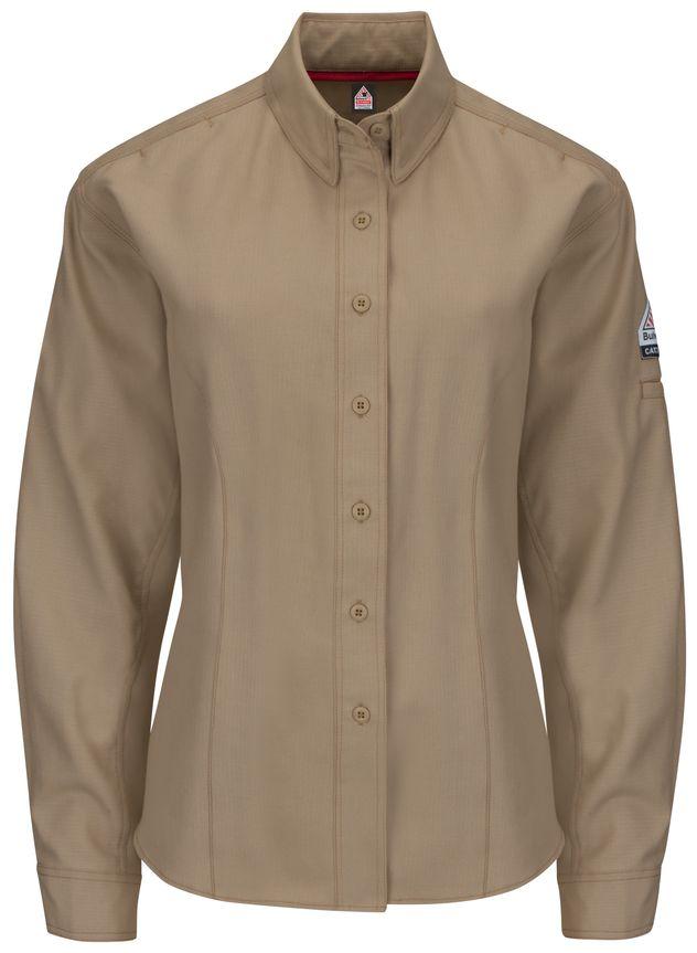 bulwark-women-s-fr-shirt-qs41-iq-series-long-sleeve-endurance-collection-khaki-front.jpg