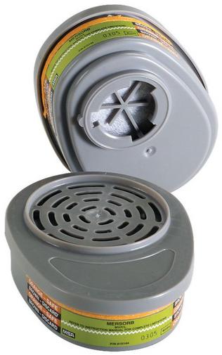 MSA Advantage 815361 Mercury Vapor & Chlorine Mersorb Cartridge