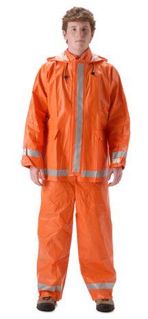 nasco arclite arc flash orange rain suit