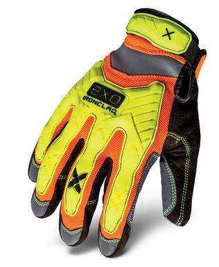 Ironclad exo-hzi HIVIZ Impact glove_back