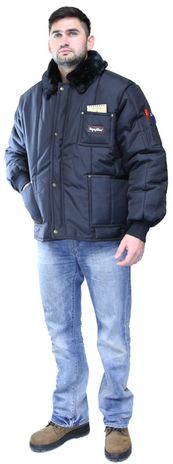 RefrigiWear 0322 Iron-Tuff Insulated Work Jacket - Front Angle View