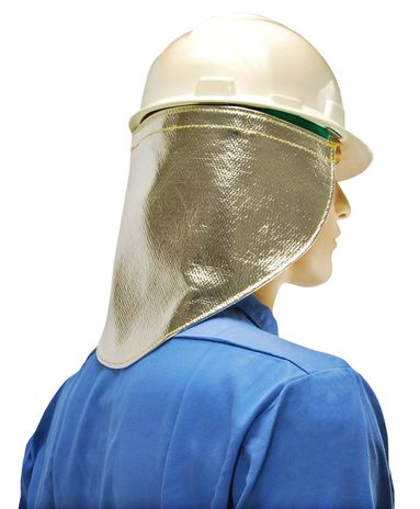 Otterlayer aluminized neck guard back detail NC3-ACF