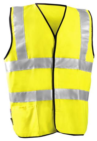 Occunomix High Visibility Class II FR Arc Flash Vest LUX-SSCFGFR Front