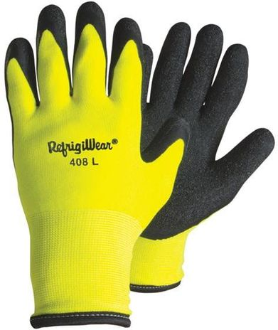 RefrigiWear Cold Weather Apparel - HiVis™ Double ProWeight Thermal ErgoGrip Glove 0408
