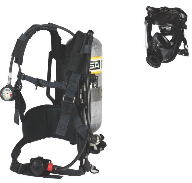 MSA AirHawk II SCBA Harness With Ultra Elite Facepiece