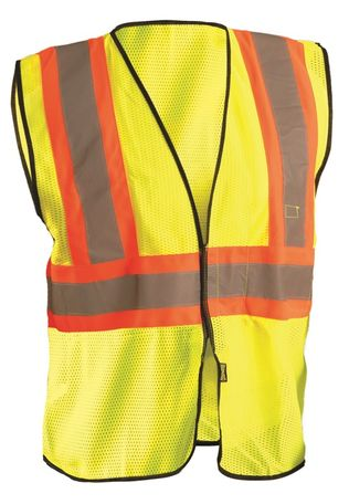 Occunomix ECO-GC2T High Visibility Two Tone Mesh Vest Front Yellow