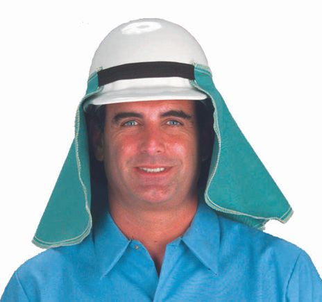 Chicago Protective 688 Fire Resistant Cotton Spark Deflector, Over The Cap Mount