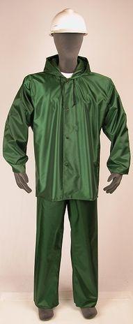 nasco worktruff 600j lightweight waterproof rain jacket green