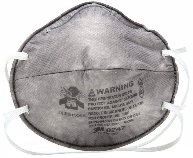 3M Disposable Respirators 8247 - R95 Front