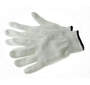 Phoenix HA0232 Work Gloves, 7ga Bleaached Cotton/Polyester