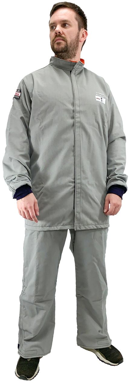 Cementex CUL40CT 40 Cal O Series Ultra Light Arc Rated Coat HRC 4 Front Grey